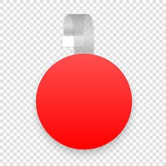 Вектор пустой круглый воблер с прозрачной полосой