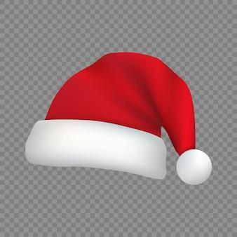分離されたクリスマスサンタクロースの帽子