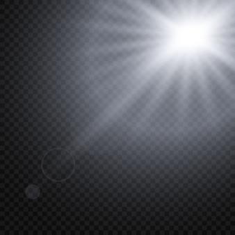 輝く光の効果の分離