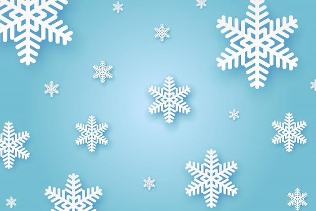 冬の紙の背景