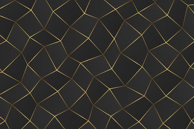 黄金の幾何学的な抽象的な背景。