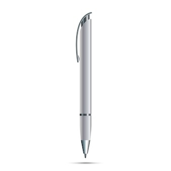Пустая ручка на белом фоне
