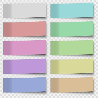 Набор заметок или листов офисной бумаги