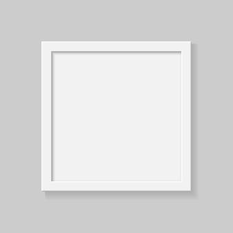 透明な背景に現実的な正方形の空の図枠。