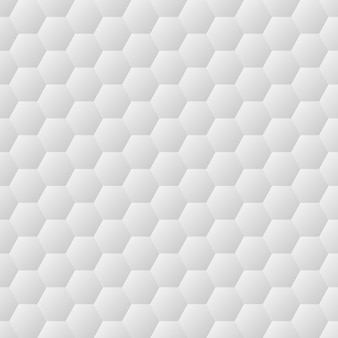 シームレスな六角形の白い壁のテクスチャ