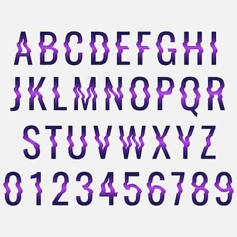Глитч шаблон искажения алфавита