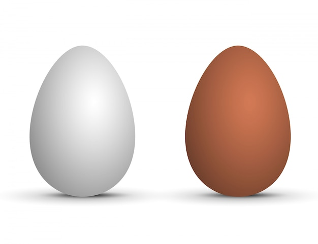 Пара реалистичных яиц