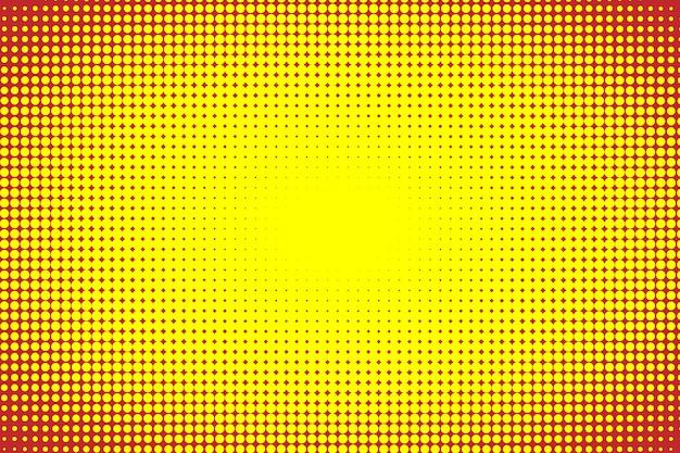 黄色と赤のハーフトーンの背景