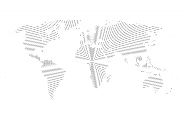 Карта мира с линиями