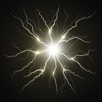 Электрическая вспышка молнии.