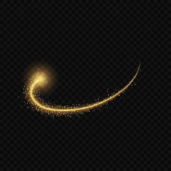 Золотой свет свечения звезды всплески