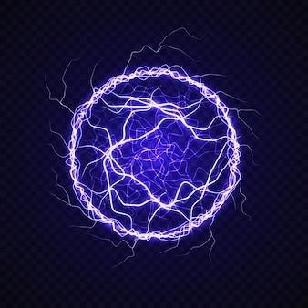 Электрический шар с эффектом молнии