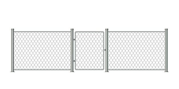 Реалистичный металлический забор