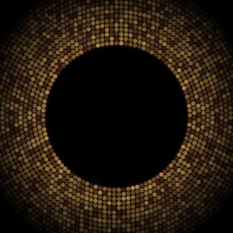 Красочные векторная иллюстрация с золотыми декоративными элементами на черном