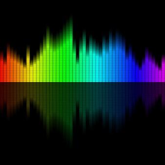 イコライザーの背景から多色音波