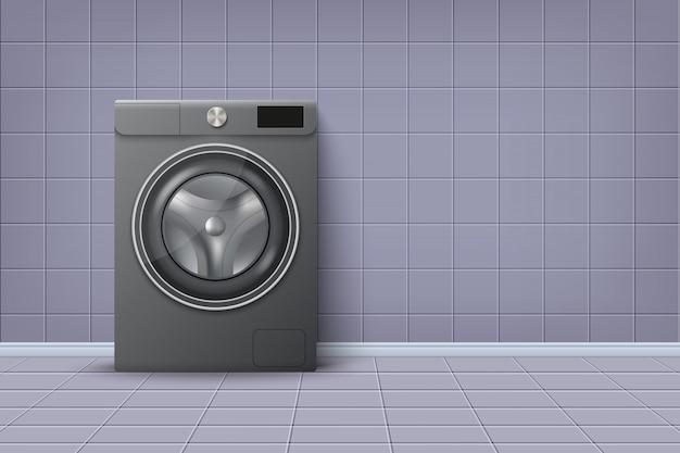 Реалистичная современная стиральная машина