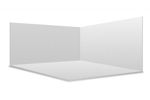 白い空白の展示スタンド。