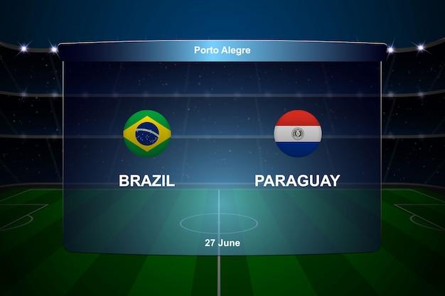 Футбольное табло трансляции графики
