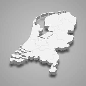 国境のある国の地図