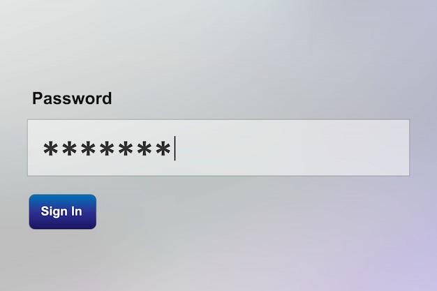 安全なパスワード入力、ログインシーケンス
