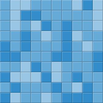 浴室の青いタイルの背景