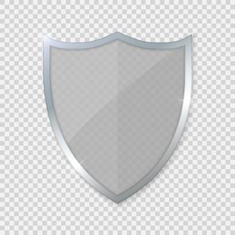 Стеклянный щит на прозрачном фоне