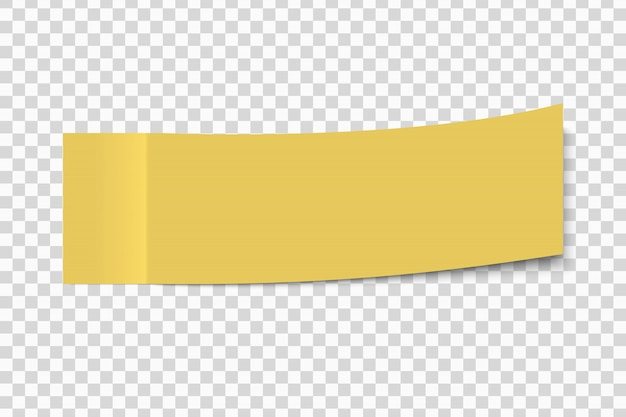 透明な背景に分離された角をはがすポストメモ付箋ステッカー