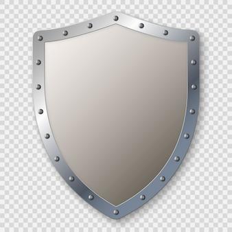 Реалистичный металлический средневековый щит