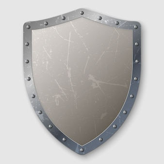 Реалистичный металлический щит