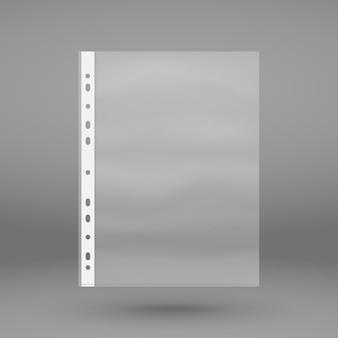 透明パンチポケット。プラスチック製の財布。