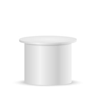 白い空の台座または表彰台