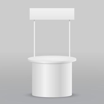 空白のプロモーションカウンター小売貿易スタンド絶縁