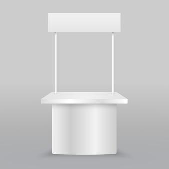 Пустой рекламный прилавок. розничный торговый стенд изолирован