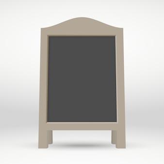 木製の空白の通りサンドイッチボード