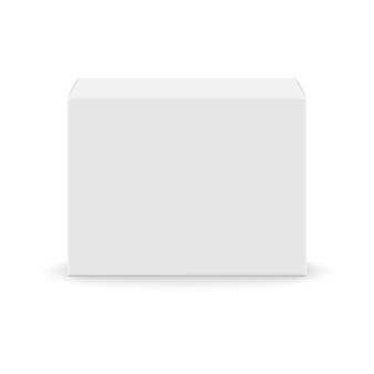 リアルな白空白のボックス