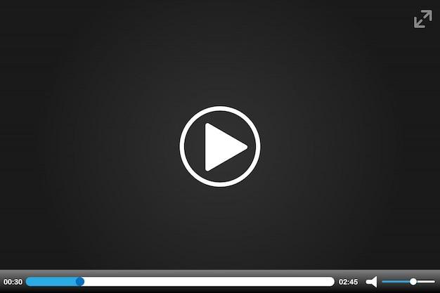 オンラインビデオプレーヤーのインターフェイスのカラフル