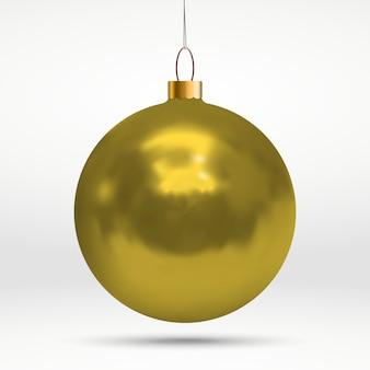 リアルな光沢のある白のクリスマスつまらないものをぶら下げ