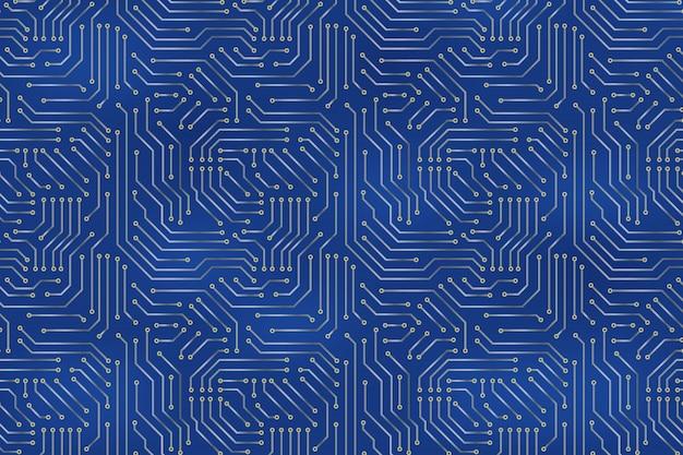 回路基板の電子要素を持つコンピューターのマザーボードの背景。