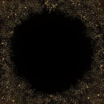 キラキラ粒子背景の高級グリーティングの豊富なカードの効果