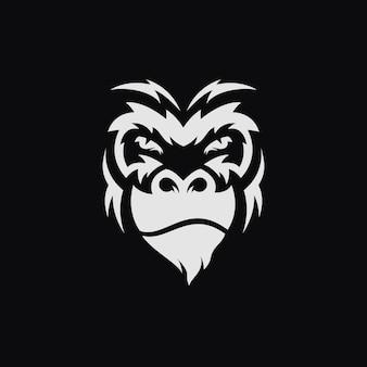 Сердитая иллюстрация лица гориллы