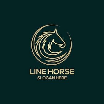 Линия лошадь логотип