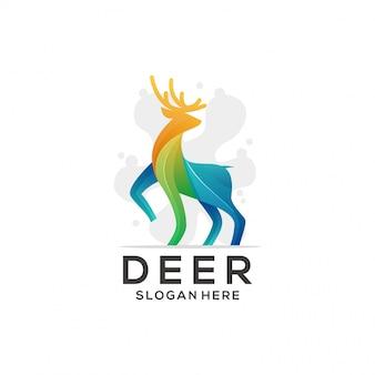 カラフルな鹿のロゴ