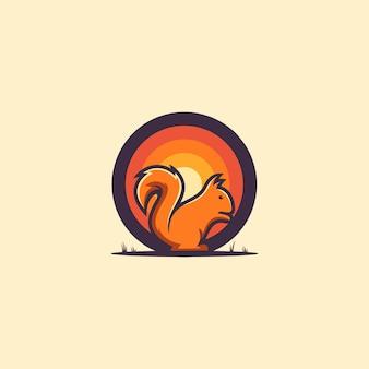 素晴らしいリスのロゴのアイデア