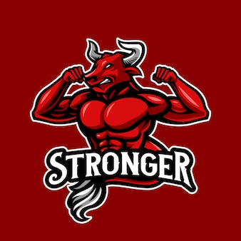 強い雄牛のロゴ