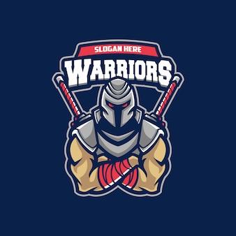 戦士のスポーツのロゴ