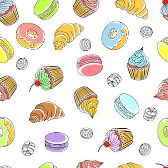 ケーキのシームレスパターン