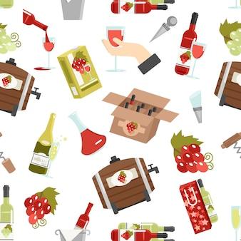 ワインカラーのシームレスパターン