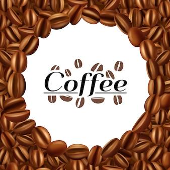 Сушеные и жареные ароматические кофейные зерна эспрессо