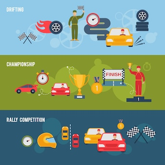 Авто спорт баннер