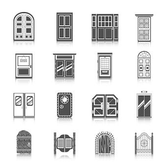 Набор иконок для дверей